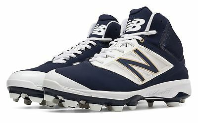 New Balance Men's Mid-Cut 4040v3 TPU Molded Cleat Shoes Navy