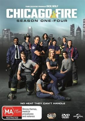 Chicago Fire : Season 1-4 (DVD, 2017, 24-Disc Set) BRAND NEW & SEALED