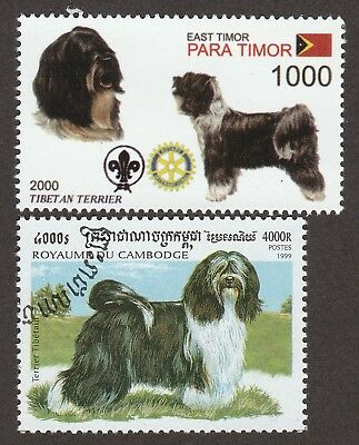 TIBETAN TERRIER ** Int'l Dog Stamp Collection ** Great Gift Idea**