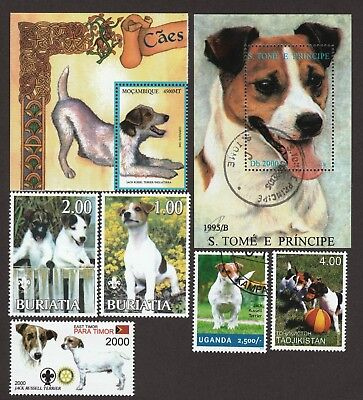 JACK RUSSELL TERRIER ** Int'l Dog Stamp Collection ** Great Gift Idea**