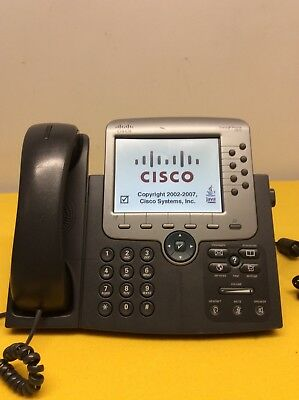 CISCO CP-7975 VOIP IP Office Phone 7975 Color Display Telephone