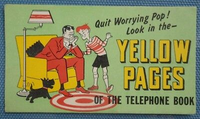 Telephone Book Yellow Pages Blotter