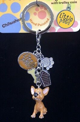 Little Paws Chihuahua Key Ring or bag with Charms Arora Design NEW