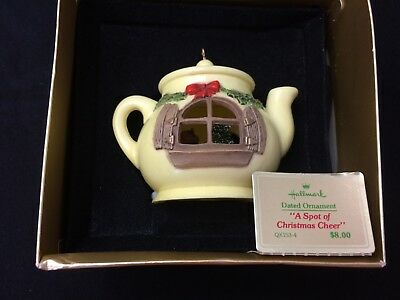 Hallmark 1980 A Spot Of Christmas Cheer Ornament In Box