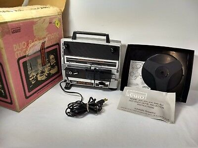 Vintage ~Montgomery Ward Model 805 Duo Eight: Super 8 mm Movie Projector  Works