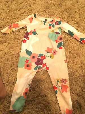Tea Collection Romper 12 18 Mos Girls Pale Pink Floral
