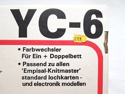 Silver Reed Knitmaster Knitting Machine Parts Yc6 4 Colour Changer Complete