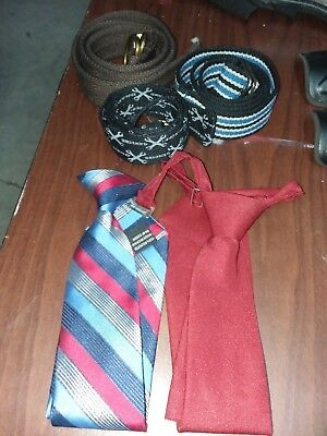 3 Boys belts and 2 Neckties