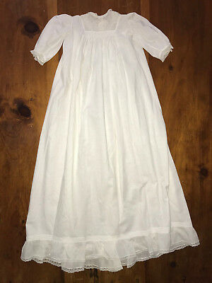 Original Victorian Baby's Christening Baptism Gown Embroidered Smocked Dress