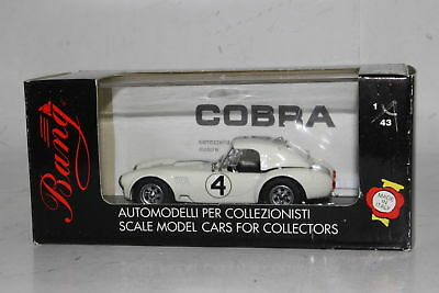 Bang Models Italy Diecast #420 Shelby Cobra Le Mans 63, White, 1:43, Boxed