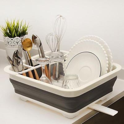 Kitchen Collapsible Over The Sink Dish Drainer Large Washing Basin Dish Tub