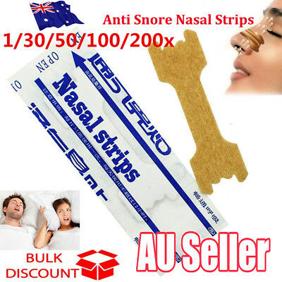 200x Anti Snore Nasal Strips to help Breathe Right Breathe Better Stop Snoring S