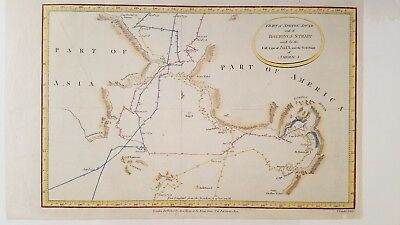 1784 Map of the Bering Strait and Norton Sound, Cooks voyages Cpt. James Cook
