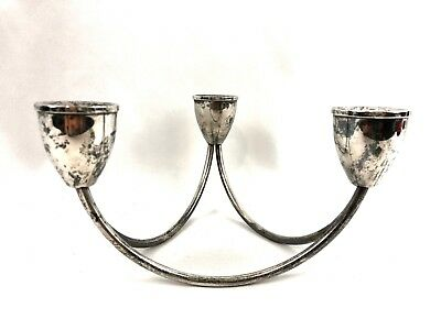 Mid Century Modern Duchin Creations Weighted Sterling Scultural Candle Holder