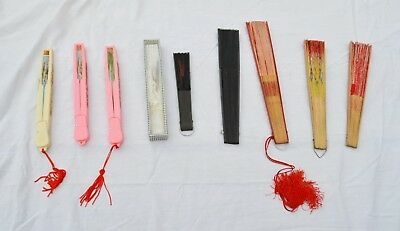 Vintage Hand held Fan Collection, 1950's, LOT of 8