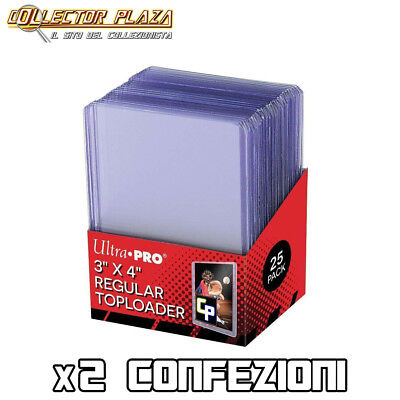 x50 TOP LOADER (x2 confez. da 25) Rigido Proteggi Carte Cards Pokemon Magic Fow