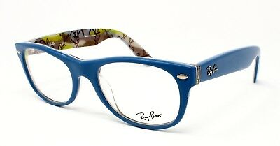 Ray-Ban New Wayfarer RX5184 Eyeglasses - Top Blue on Texture (5407) - 50mm