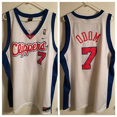 dcbf1e1f1af32 ... closeout lamar odom los angeles clippers mens 2xl nike swingman white nba  jersey a1 a76ae 10d84