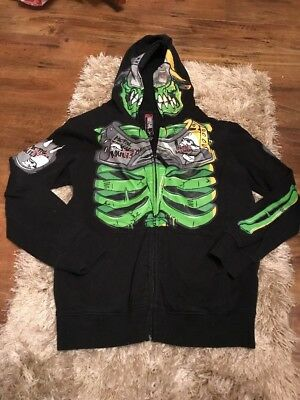 Boys Large Metal Mulisha Eyegore ZipUp Full Face Hoodie