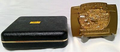 John Deere Belt Buckle Gold-Toned Two Millionth Lawn & Garden Tractor 1992
