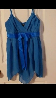 Fredricks Of Hollywood Womens Sz M Chemise Blue Lace