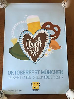 2017 OFFICAL OKTOBERFEST POSTER BRAND NEW 23 x 34 INCHS !!!