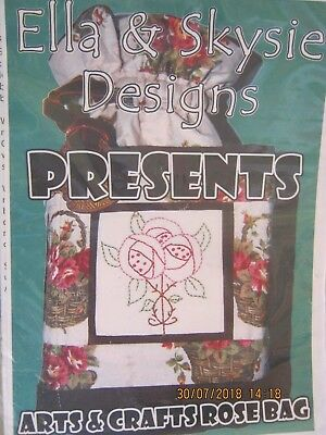 ROSE BAG PATTERN BY ELLA AND SKYSIE WITH STITCHERY Patchwork/quilt/applique