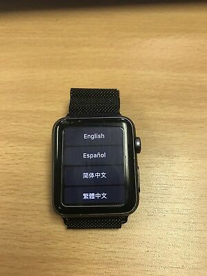 Apple Watch Gen 1 42mm Space Gray Series 7000 Stainless Steel Magnetic Band