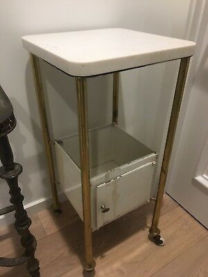ANTIQUE AMERICAN MEDICAL CABINET APOTHECARY with marble top