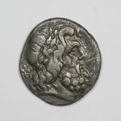 c. 100 B.C. Ancient Greek AR Silver Zeus Stater Coin, Thessaly