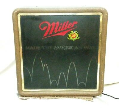 VTG Miller High Life Beer Light Up Motion Sign 1984 Made The American Way
