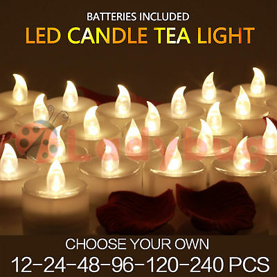 Led Tea Light Candles Tealight Flameless Wedding Battery Included White