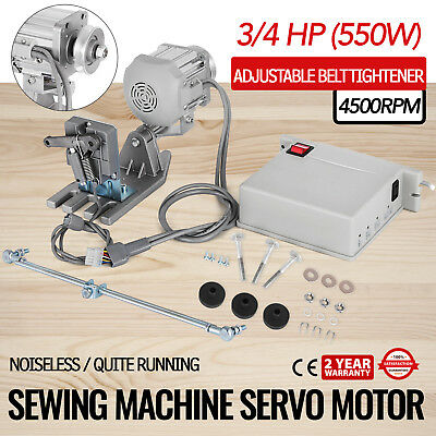Sewing Machine Brushless Servo Motor  3/4HP 110V Industrial CS1000 4500RPM