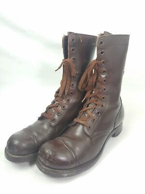 WW2 WWII US U.S. Boots,Army,Leather,Combat,Military,Original,Shoes,Brown,Light