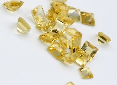 13.90 Ct Natural Citrine Topaz 24 Pieces Lot Loose Gems Princess Cut Eye Clean