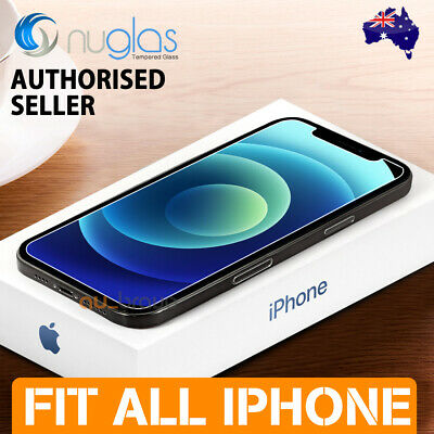 Apple iPhone XS Max XR X - 2x GENUINE NUGLAS Tempered Glass Screen Protector
