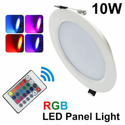 10W RGB LED Ceiling Light Fixture Recessed Panel Downlight Spot Lamp Living Room