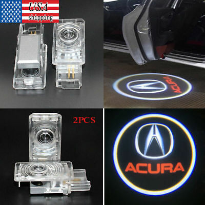 2× For Acura TLX RLX MDX TL Ghost Shadow LED Projector Lights Door Logo Laser US