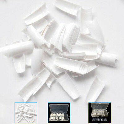 500Pcs Clear White Natural French False Acrylic Nail Art Tips UV Gel Beauty DIY