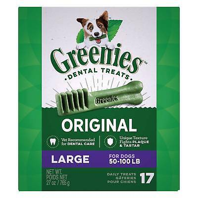 Greenies Original Large Size 17 count 27 oz   Dental Chew Treats for Dogs