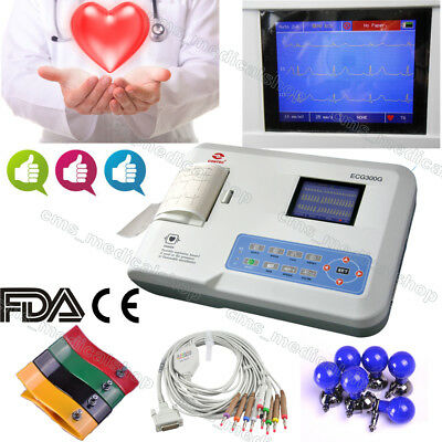 Digital 3-Channel 12-Lead ECG EKG MachineMonitor,Thermal Printer,30% off