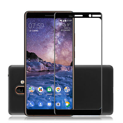3D Full Coverage Tempered Glass Screen Protector For Nokia 6.1 7 Plus 6 3.1 2018