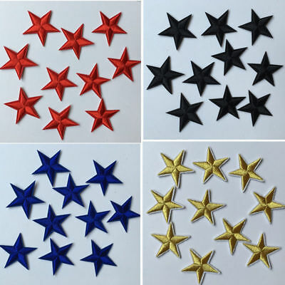 DIY 10pcs Star Embroidery Sew Iron On Patch Badge Clothes Applique Bag Fabric