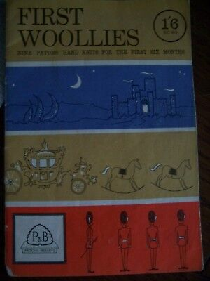 Vintage Knitting Pattern Booklet P&B SC80 First Woolies 9 Baby Knits 1st 6 Mnths