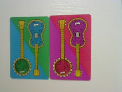 2 Swap/Playing Cards - Pair Musical Instruments
