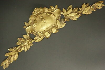 LARGE PEDIMENT, LOUIS XV STYLE, ERA 19TH - BRONZE - FRENCH ANTIQUE - 2 available