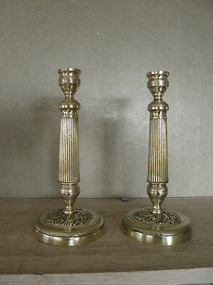 Gilt French Pair Candelabras Candle holders antique ornate bronze CANDLESTICKS