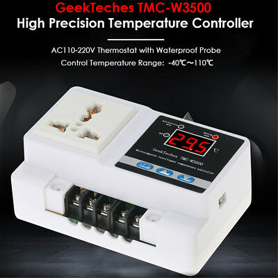 LCD Digital Temperature Controller Thermostat Socket+Waterproof Sensor Probe