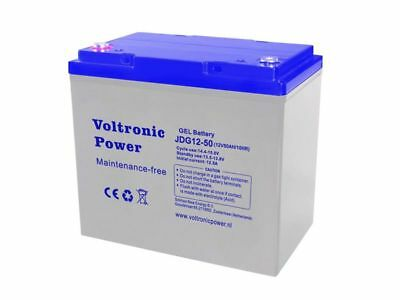 Batterie Solaire Gel 50 AH 12V Decharge Lent-Voltronic Power