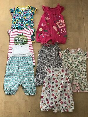 Girls Romper Suit Playsuit Jumpersuit Bundle Age 3-6 Months